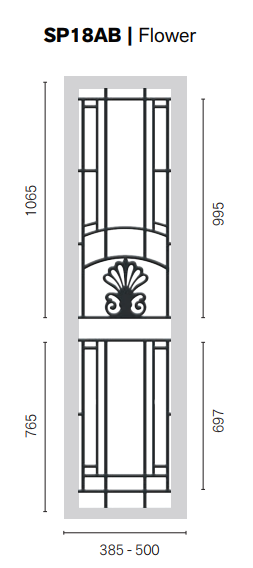 Colonial Castings SP14AB Flower Side Panel
