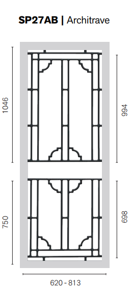 Colonial Castings SP27AB Architrave