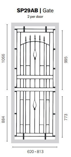 Colonial Castings SP29AB Gate