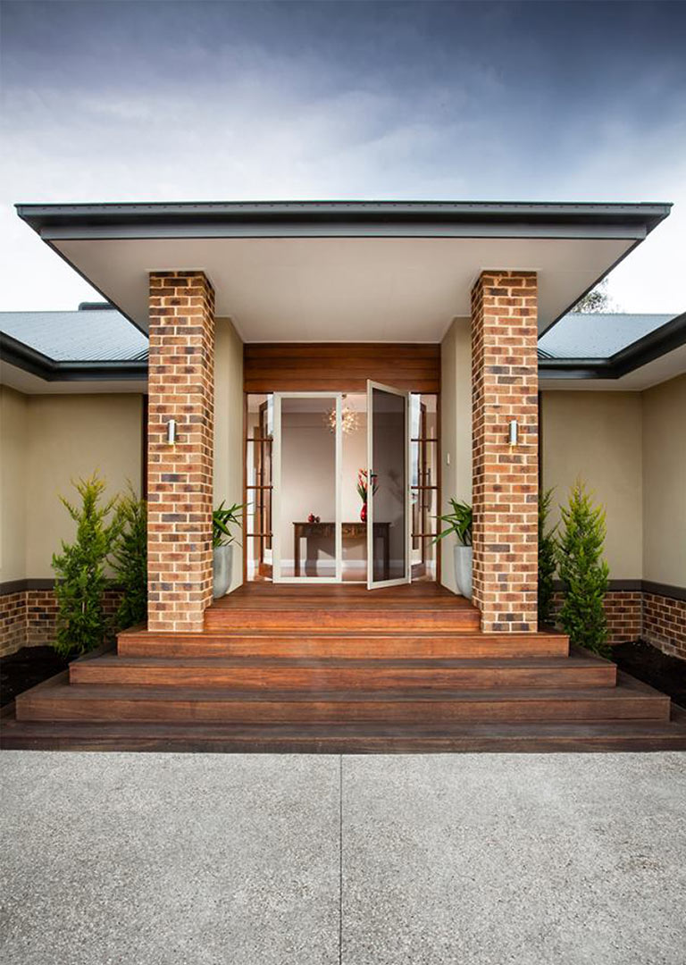 Front of house with security screen door in adelaide