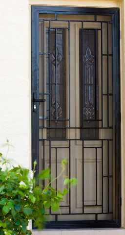 Modern security screen door on house in Adelaide