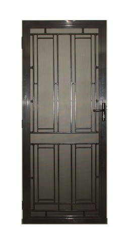 Aluminium decorative security door