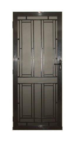 Aluminium decorative security door