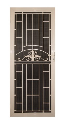 Decorative security door made from aluminium