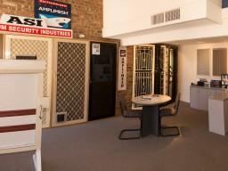 inside our security door showroom