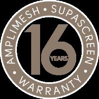 Supascreen 16 year warranty