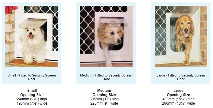 Pet Doors For Security Screens